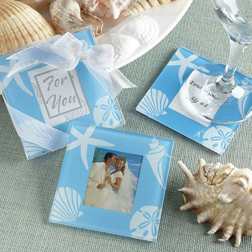 Beach Themed Glass Photo Coasters