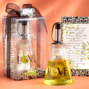 """Olive You"" Glass Oil Bottle in Gift Box"