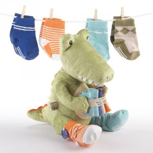 """Croc in Socks"" Baby Socks Gift Set"
