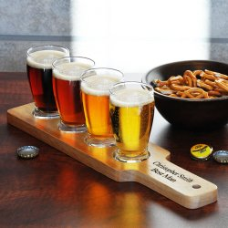 Personalized Beer Flight Sampler Set