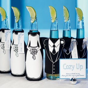 Tuxedo and Wedding Gown Bottle Sleeve