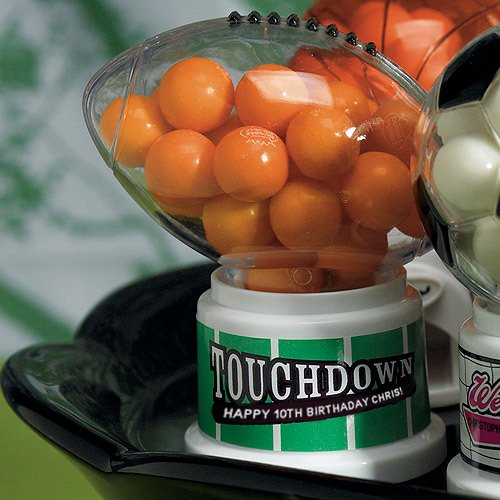 Personalized Mini Football Gumball Machine