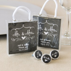 Personalized Wedding Hershey's Kisses Mini Gift Tote