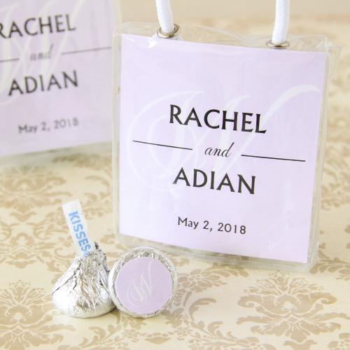 Personalized Wedding Hershey's Kisses Mini Gift Tote