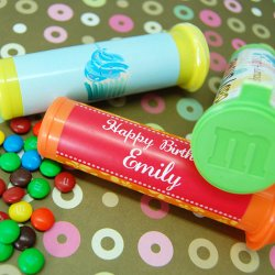 Personalized Birthday M&M Minis Tube