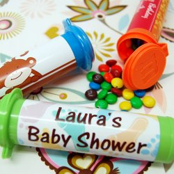 Personalized Baby Shower M&M Minis Tube