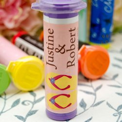 Personalized Wedding M&M Minis Tube