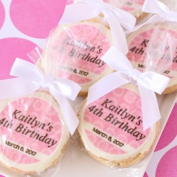 Custom Printed Round Birthday Cookie