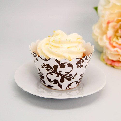 Filigree And Swirls Cupcake Wrappers