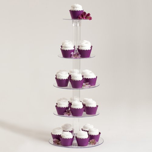 5 Tier Acrylic Cupcake Stand