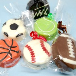 Sports Ball Chocolate Covered Oreo Cookie