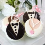 Bride and Groom Chocolate Covered Oreo Cookies