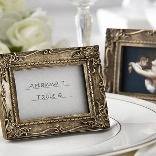 Antique-Finish Place Card Holder Photo Frame