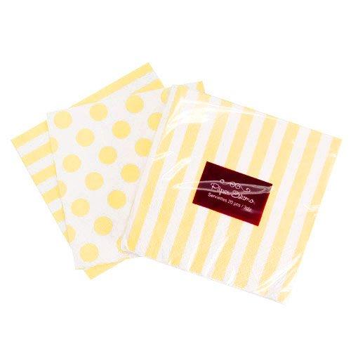 Limoncello Dots and Stripes Paper Napkins