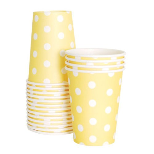 Limoncello Dotted Paper Cups