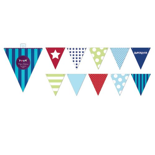 Blue Party Flags Assortment