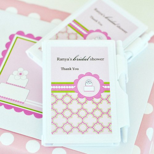 Personalized Pink Cake Notebook Favor