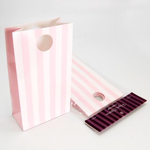Marshmallow Pink Pretty Stripes Party Bags