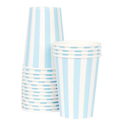 Blue Pretty Stripes Paper Cups