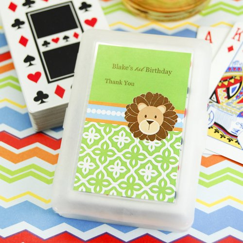 Jungle Safari Playing Carsd With Personalized Labels