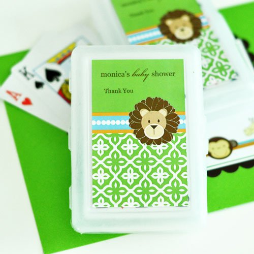 Jungle Safari Baby Shower Playing Cards