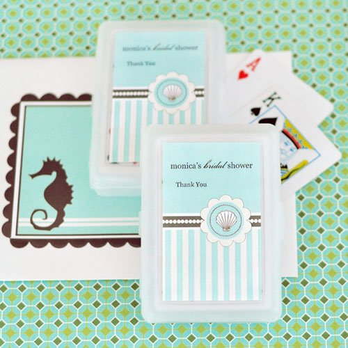 Beach Themed Bridal Playing Cards