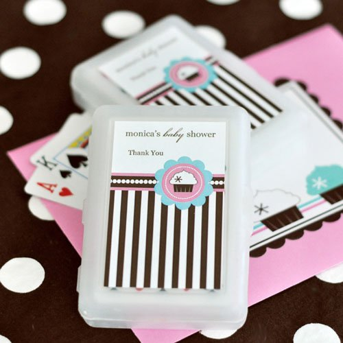 Cupcake Themed Baby Shower Playing Cards