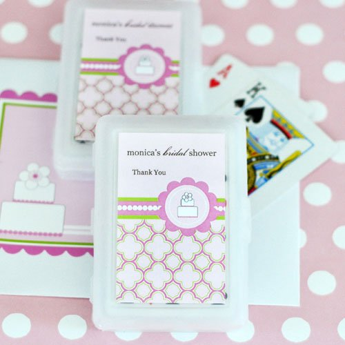 Pink Cake Themed Bridal Shower Playing Cards