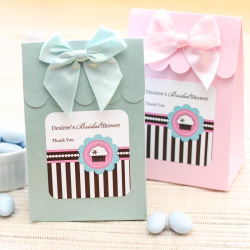 Personalized Cupcake Themed Candy Bag