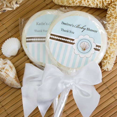 Personalized Baby Shower Beach Themed Lollipop Favors