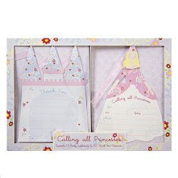 Princess Party Invitations and Thank You Notes