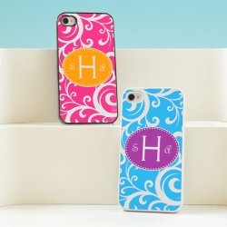 Personalized Scrolling Vine iPhone Case