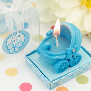 Adorable Baby Carriage Candle