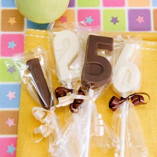 Birthday Number Chocolate Lollipops