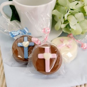 Religious Cross Chocolate Covered Oreo Cookie
