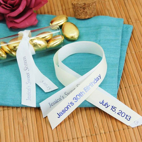 Personalized Eco Friendly Pre Cut Ribbon