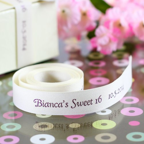 Personalized Sweet 16 Eco Friendly Ribbon Roll
