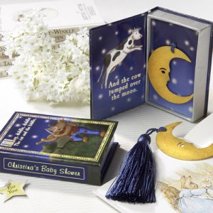 """Over the Moon"" Bookmark in Nursery Rhyme Keepsake Box with Personalized Label"