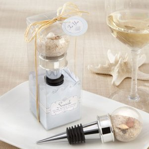 Sand and Shell-Filled Bottle Stopper