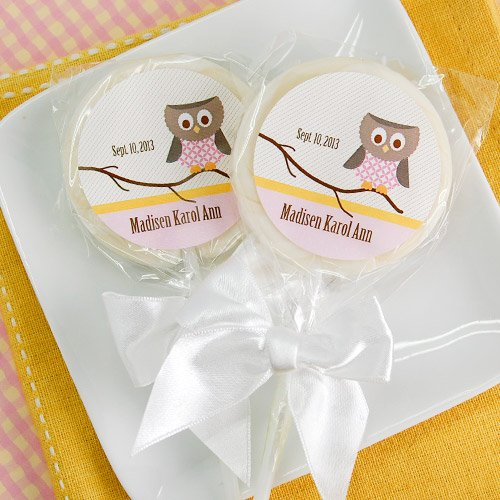 Whimsical Owl Lollipop Favors