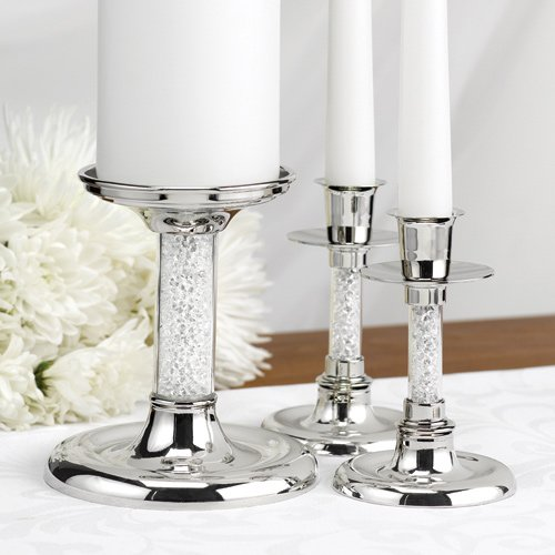 Glittering Beads Unity Candle Stand Set
