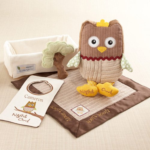 "My Little Night Owl"" 5-Piece Personalized Gift Set"