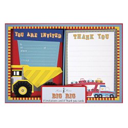 Big Rig Party Invitations and Thank You Notes