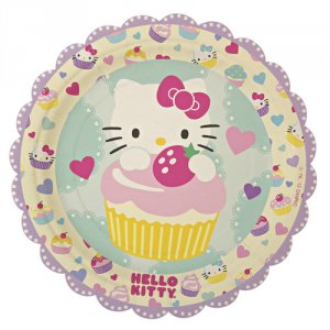 "Hello Kitty 7"" Party Plates"