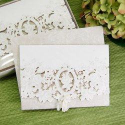 Classic White Floral Party Invitations