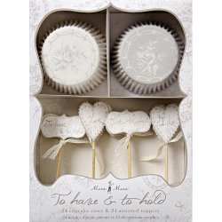 Classic White Floral Party Cupcake Kit