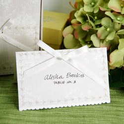 Classic White Floral Party Place Cards
