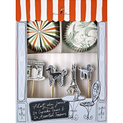 Chic Paris Party Cupcake Kit