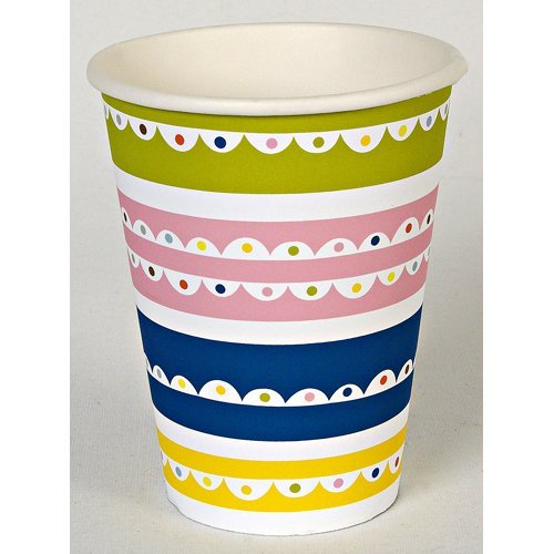 Bright Pattern Birthday Party Cups