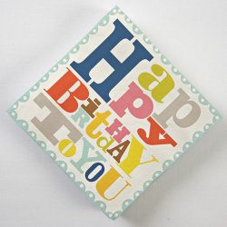 Bright Pattern Birthday Party Napkins